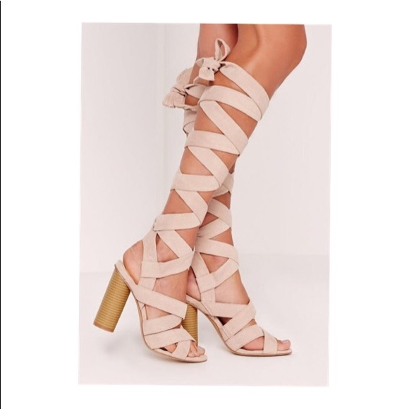43ae43cf95a Missguided strappy wrap around block heel sandal. M 5af224146bf5a6dbd55e9be7